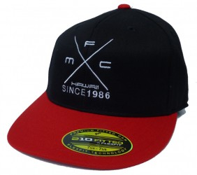 MFC Hawaii Teamrider Flexfit Cap - Logo, Red/Black